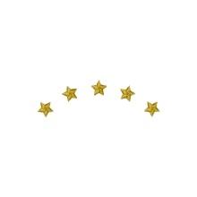 5 Sterne im Bogen
