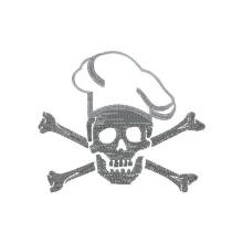 Totenkopf mit Knochen & Mütze