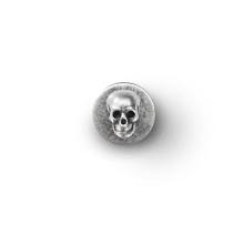 Jacken-Knopf 'Schädel' ohne Knochen