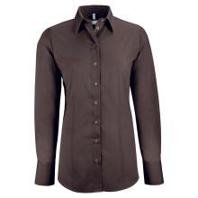 Basic-Bluse, braun