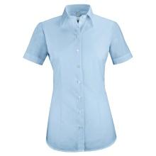 Basic-Bluse, bleu