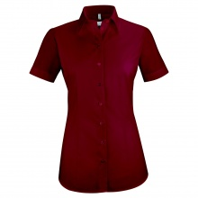 Basic-Bluse, bordeaux weinrot