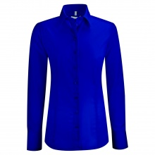Bluse, royalblau -SALE-