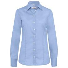 Bluse, fil á fil bleu