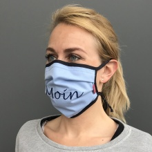 Community-Maske, mit Sprüchen