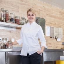 """""""Chef-Sarah"""" weiß"""